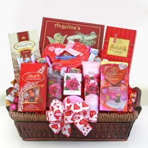 Be Mine Spa and Chocolate Valentines Basket