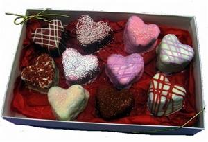 Heart Brownie Bites Gift Box, Love