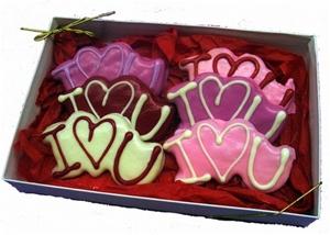 "Hand Dec. ""I Love You"" Cookies Gift Box"