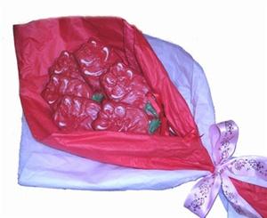 Hand Dec. Rose Cookie Bouquet, 6 cookies