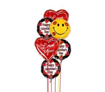 Love & Smiles Valentine Balloons
