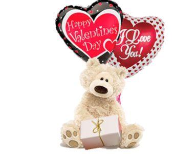 Medium Valentine Bear With A S