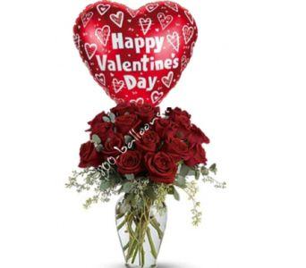Full Heart Valentine Flowers