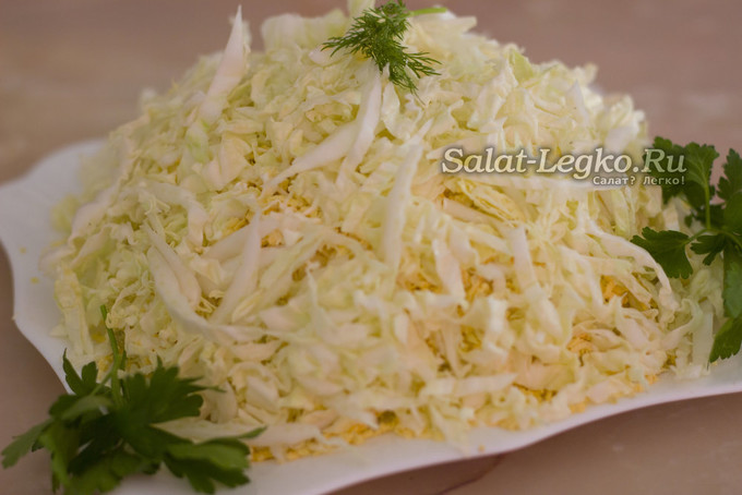 Рецепт салат лебединый пух