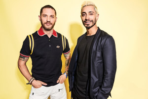 Tom Hardy And Riz Ahmed At Comic Con Wallpaper