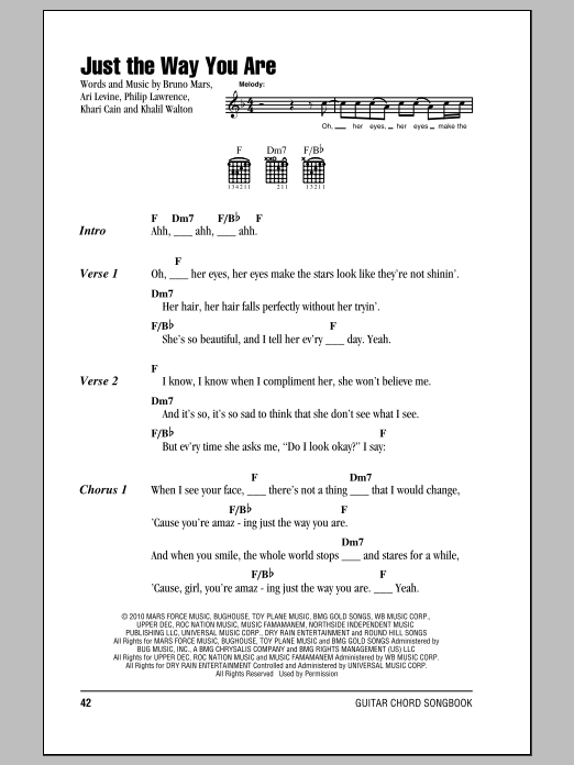 Chord bruno mars