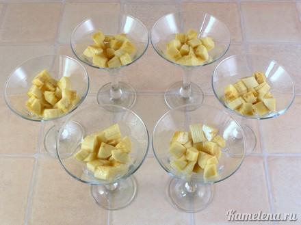 Желе сметанное с бананами