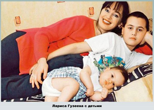 С дочерью Ольгой и сыном Георгием