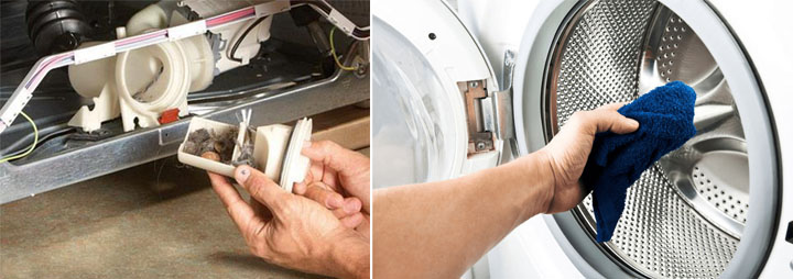 Попадание посторонних предметов в бак стиральной машины