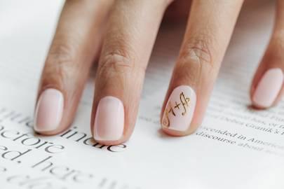 Bridal nails design 2014