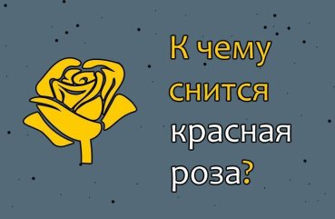 К чему снится красные розы