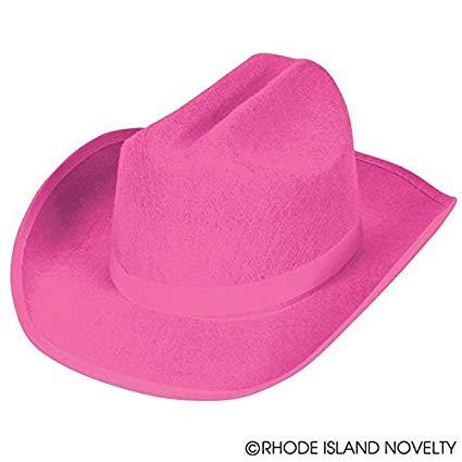 Pink felt cowboy hat