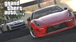 GTA V Online High Speed Sports Car Chase Rockstar Editor