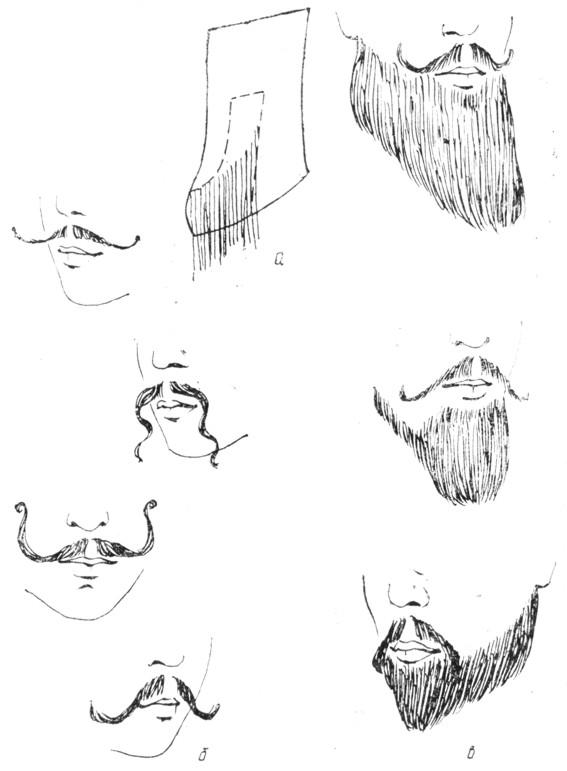 Фото формы усов и бороды