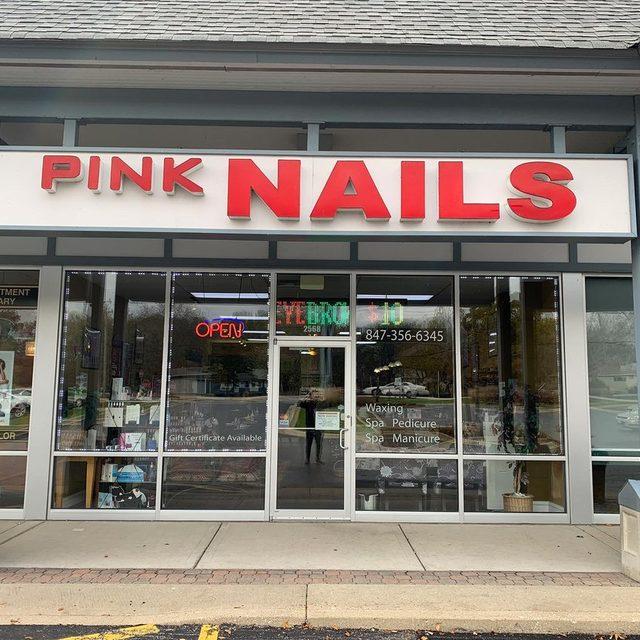 Pink nails round lake
