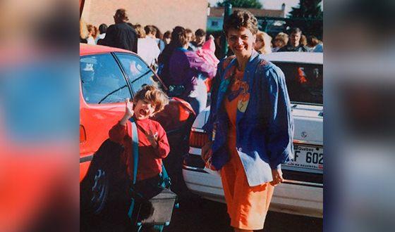 Ксавье Долан в детстве с мамой