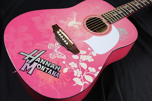 Hannah montana pink guitar