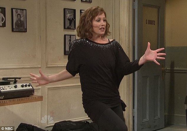 Funny girl: Christina is hilarious playing a dance instructor