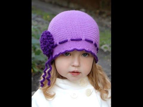 Вязанные детские шапочки крючком