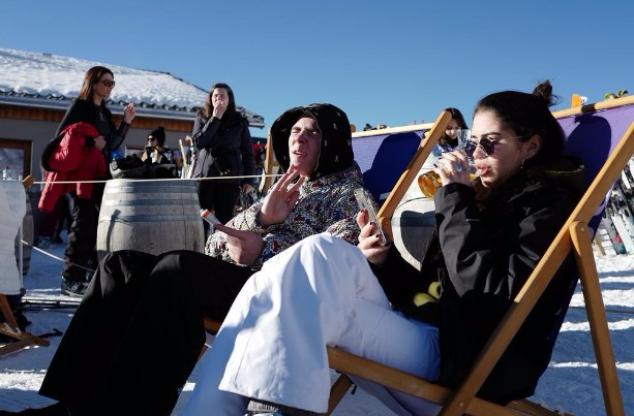 Рокко и Ким на горнолыжном курорте Вербье