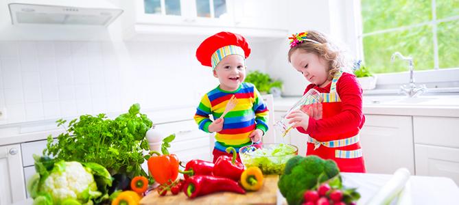 О пользе овощей и фруктов детям