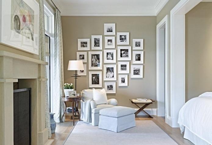 Как красиво развесить фото в рамках на стене фото