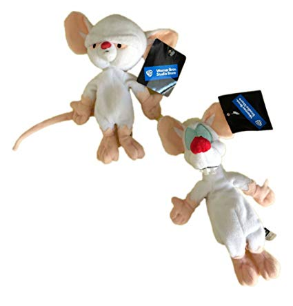 Pinky and the brain plush toys
