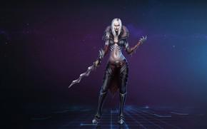 Обои Девушка, Fantasy, Blizzard, Art, Diablo III, Diablo, Characters, Necromancer, Некромант, Game Art, by Kazbek Dzasezhev, ...