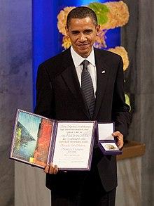 Nobel peace prize for barack obama