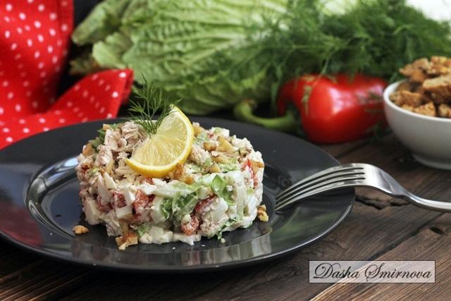 Салат с пекинской капустой пп