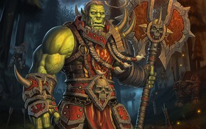 Обои Лес, World of Warcraft, Fantasy, Blizzard, Art, Орк, Game, WarCraft, Тролль, Characters, Таурен, Game Art, ...