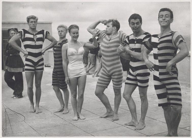 Пляжная одежда, 1945-1950 годы. история, смотреть, фото