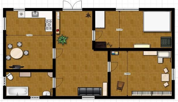 Планировка онлайн комнат