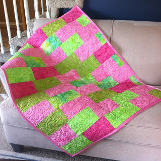 Pink green quilts