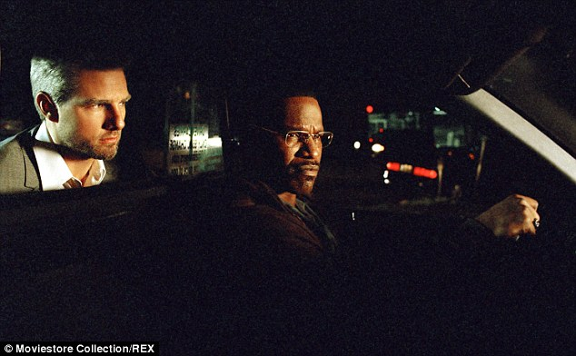 Collateral: Jamie is said to be keeping 'Mission Impossible' about the relationship with Katie because of his friendship with her ex Tom Cruise (seen here with him in a tense scene from 2004's Collateral)