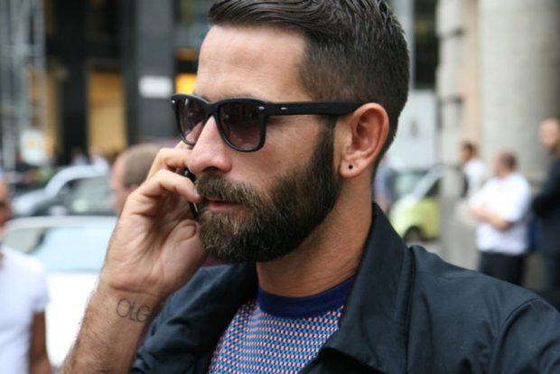 брутальная борода средне длины