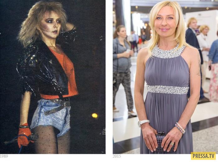 Как изменились отечественные звезды с конца 80-х - начала 90-х годов (14 фото)