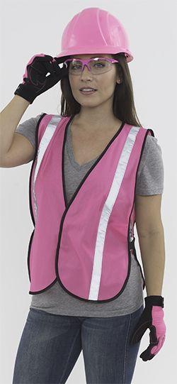 Pink safety gear