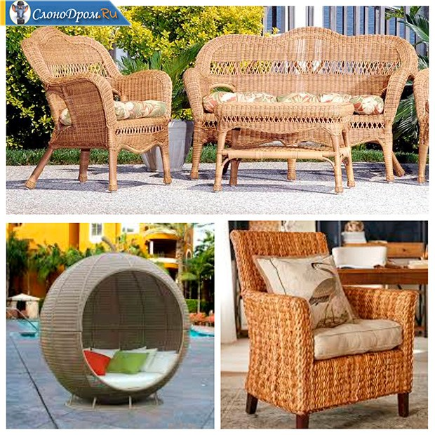 Идея по изготовлению плетенной мебели