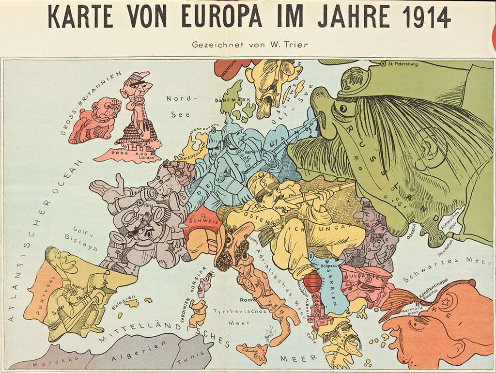 Europe Satirical Maps Zoom Maps - Europe map after world war1