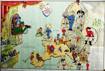 Europe comic map, 1953