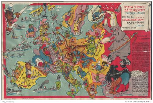 Europe comic map, 1940