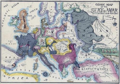 Europe Comic Map, 1854