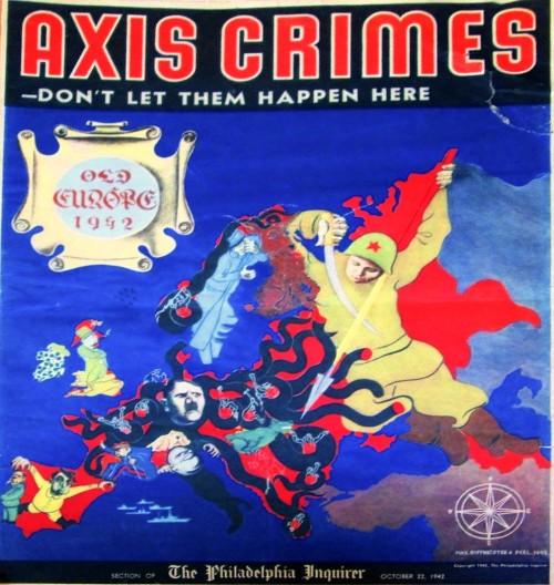 Europe comic map, 1942