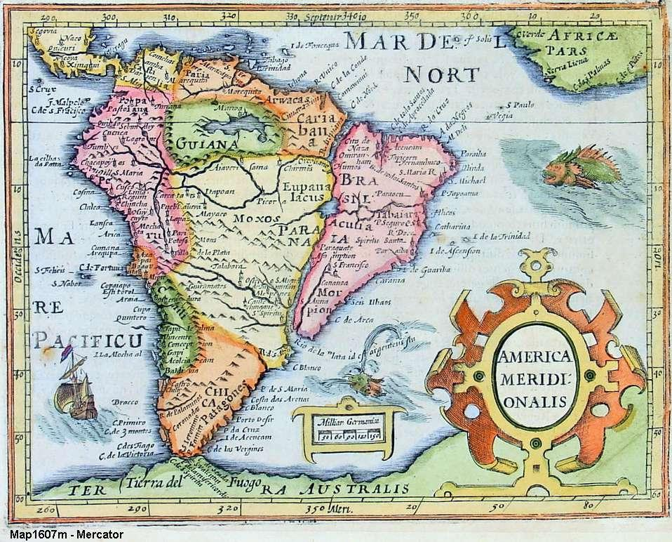 South america old maps zoom maps south america 1607 freerunsca Images