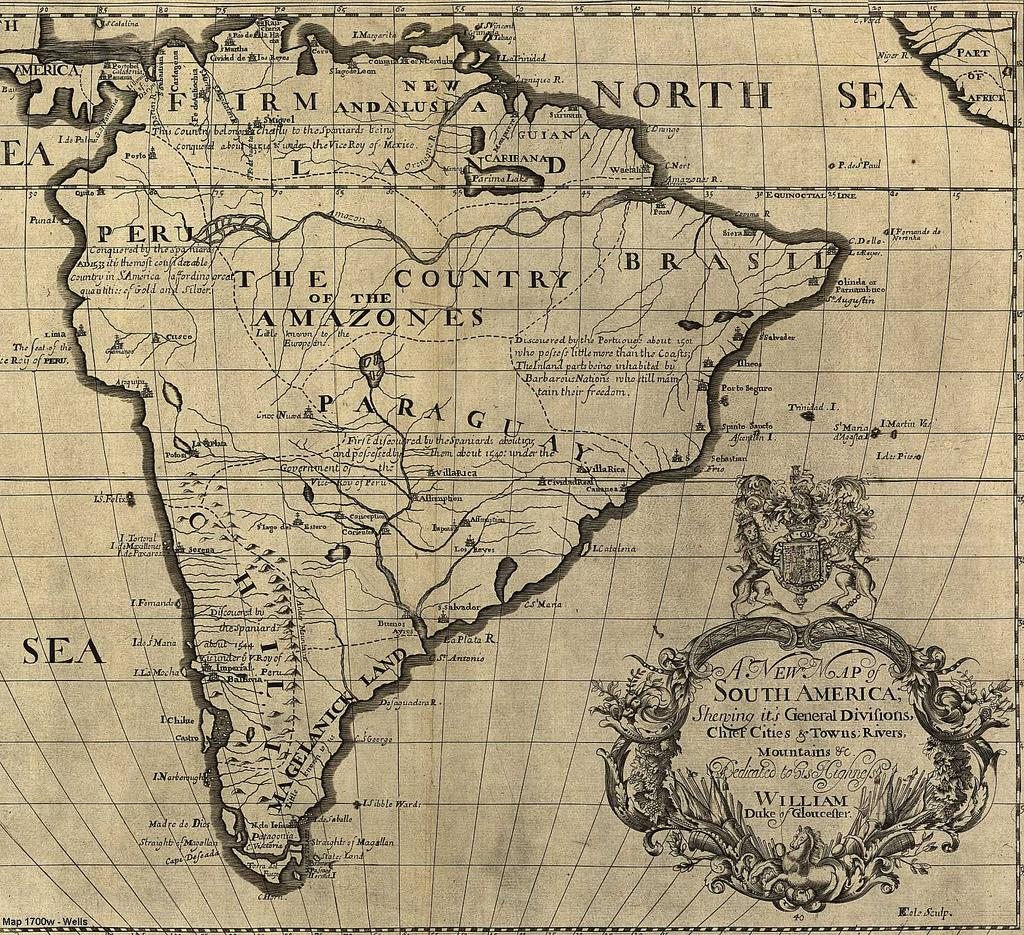 South America Old Maps  Zoom Maps - Map of north america 1700