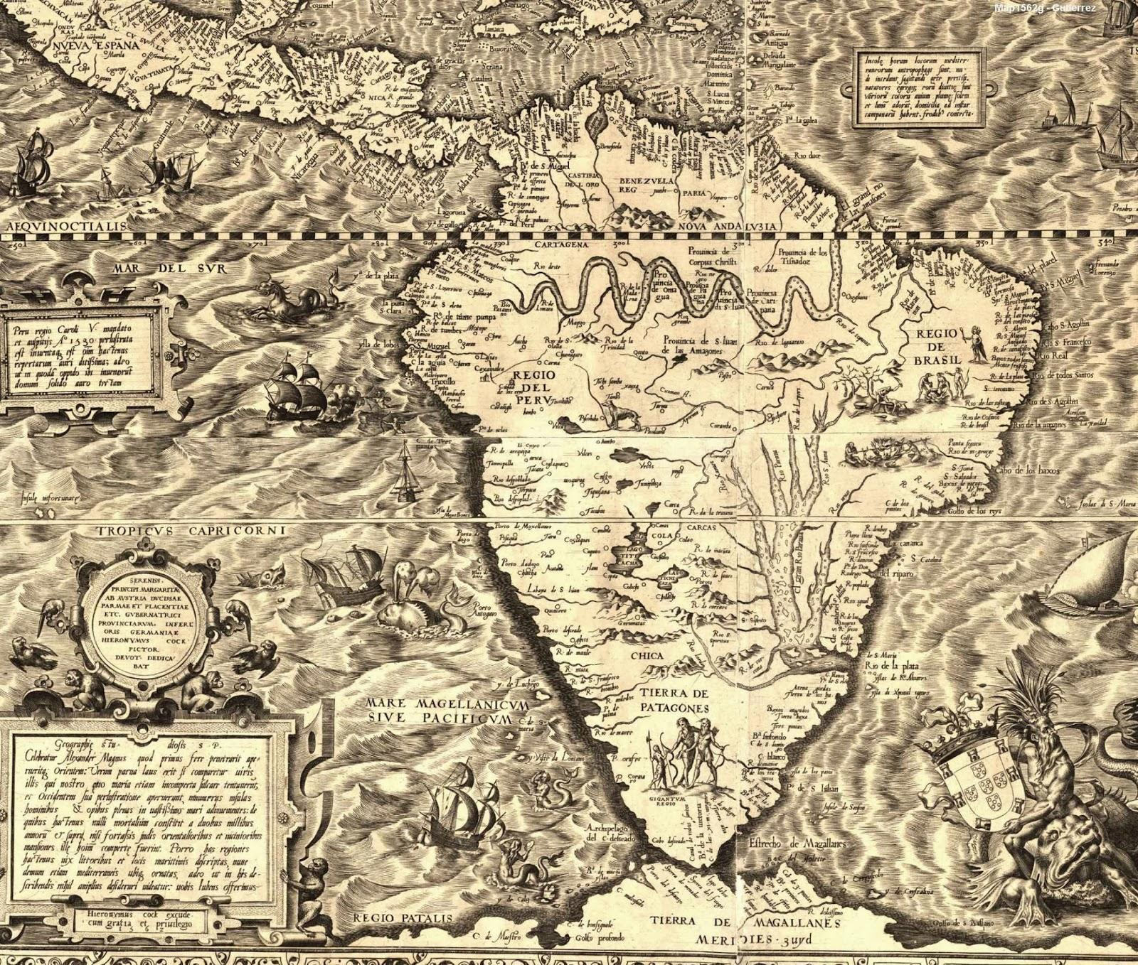 South America Old Maps  Zoom Maps - Old maps of america