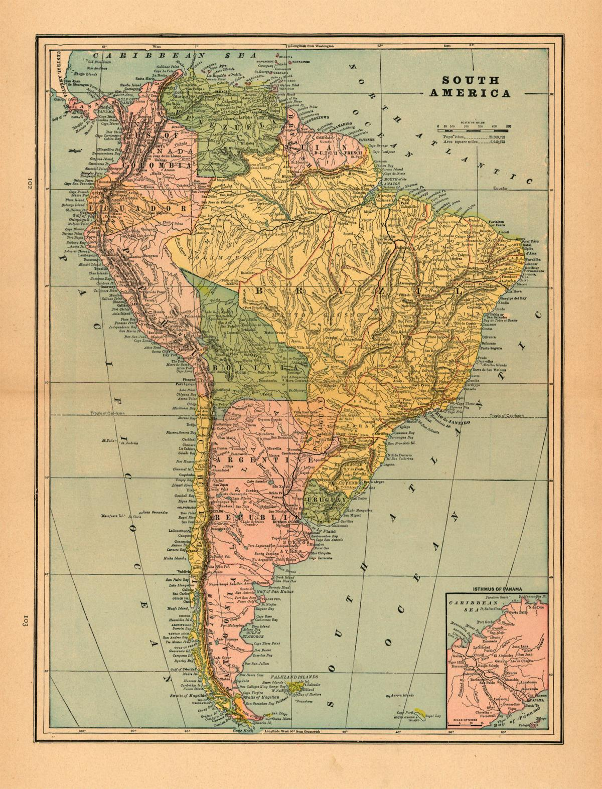 South America Old Maps Zoom Maps