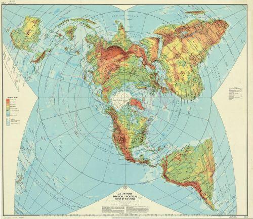 USAF world map, 1961