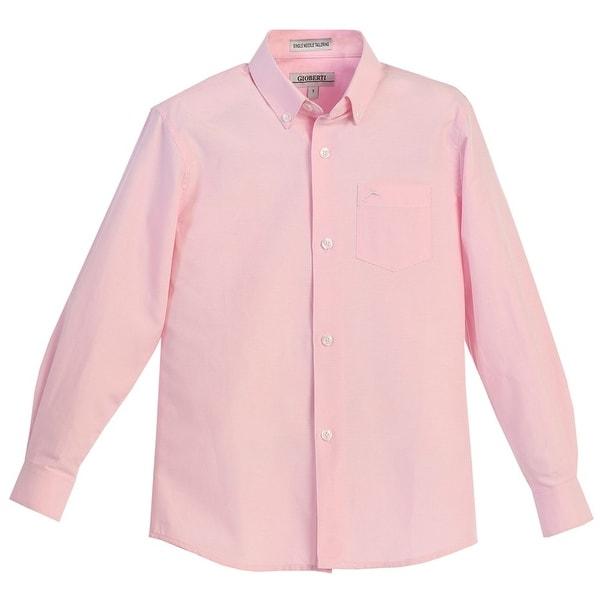 Boys pink oxford dress shirts